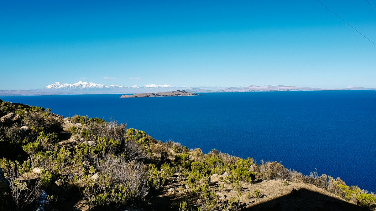 view of Lake Titicaca from Isla del Sol