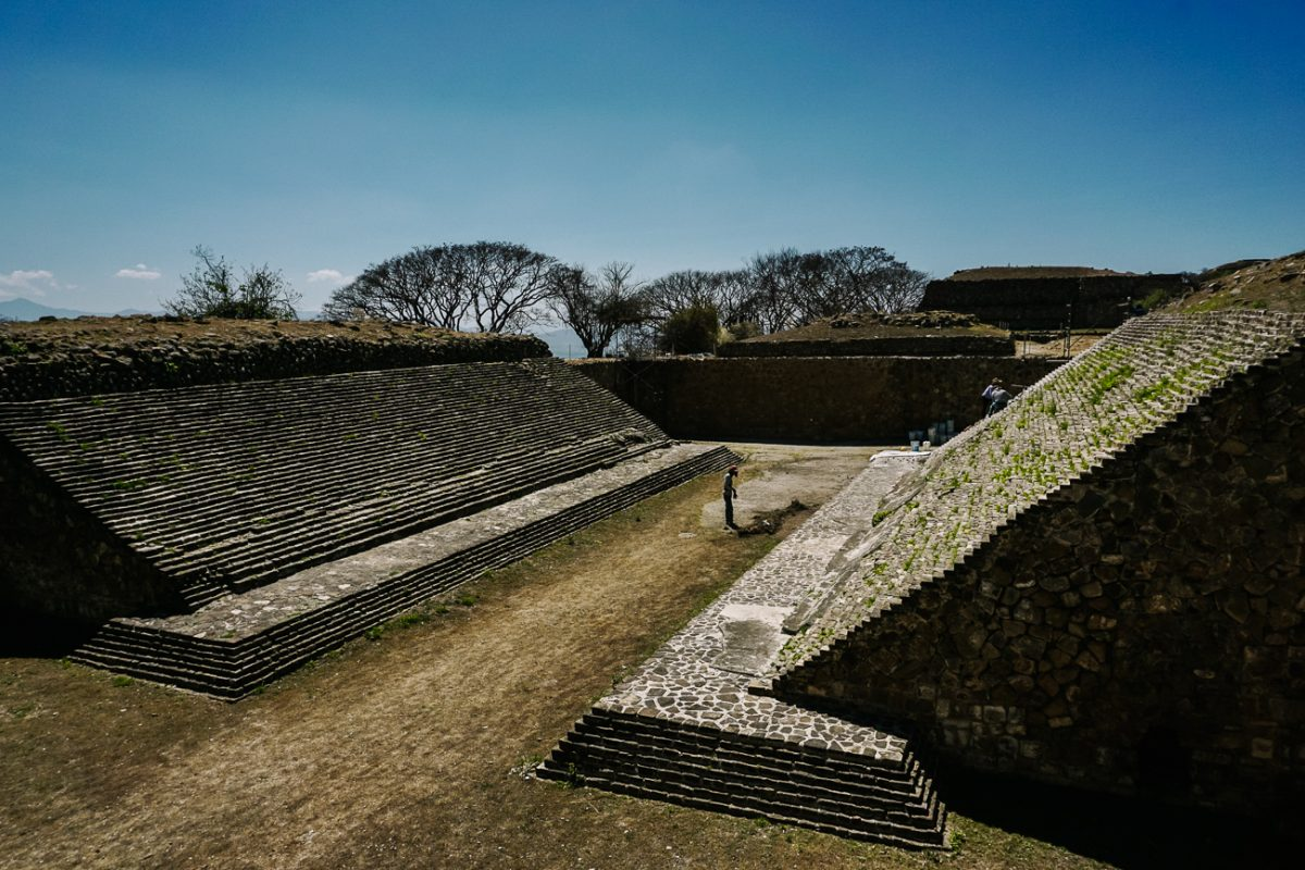 The ballcourt, Discover the ruins near Oaxaca