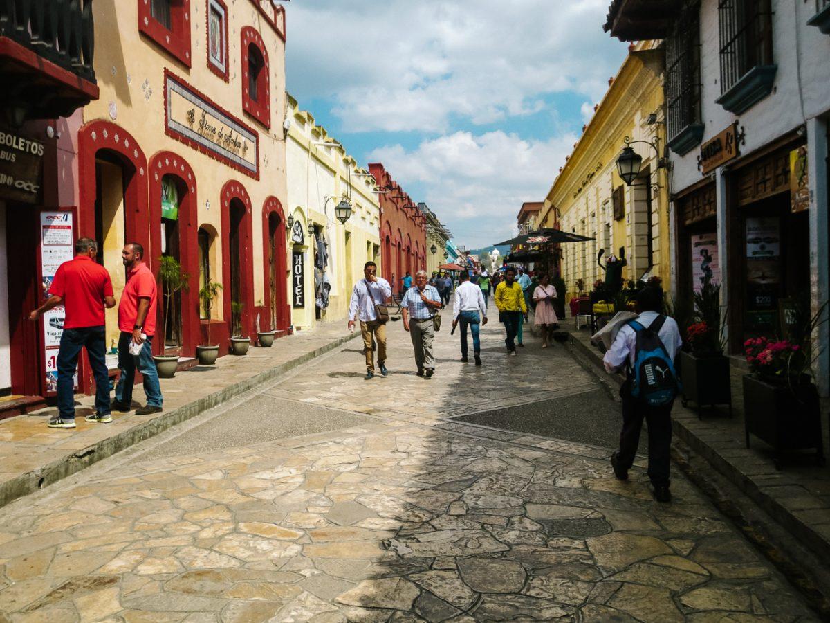 lovely streets in San cristobal de las casas, Chiapas Mexico