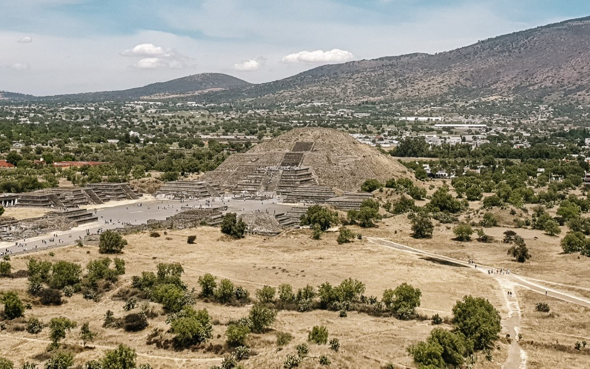View of Teotihuacan - the Aztec ruins of mexico