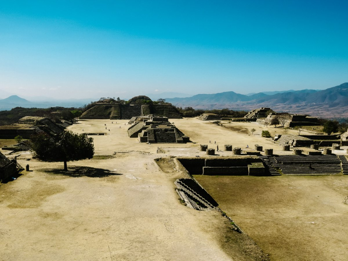 view of Monte Alban, the Oaxaca ruins