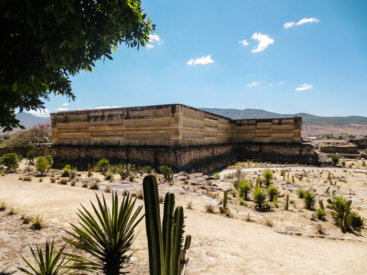Mitla archaeological site with mozaik work