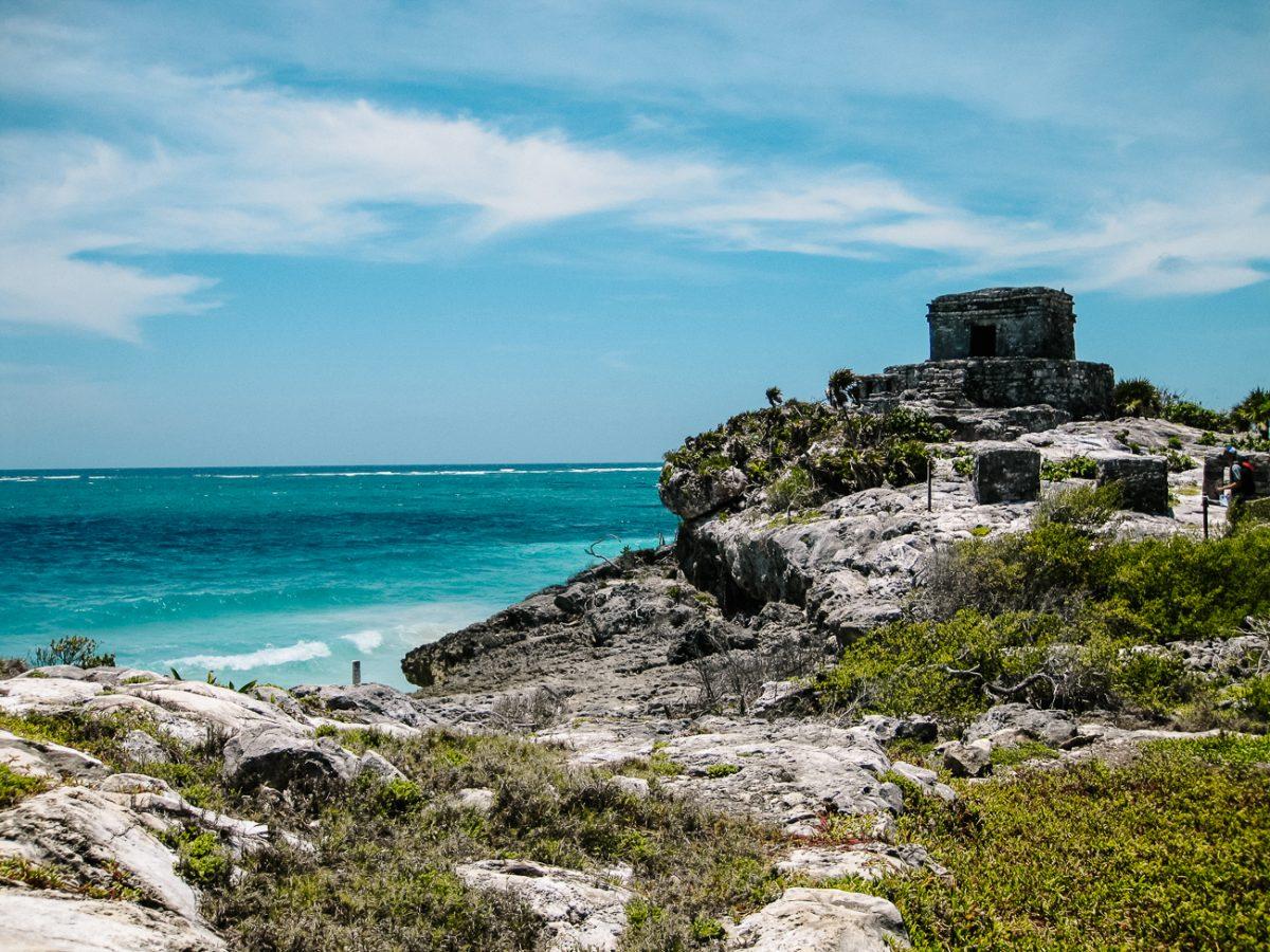 Maya ruines Tulum, aan het strand van Mexico