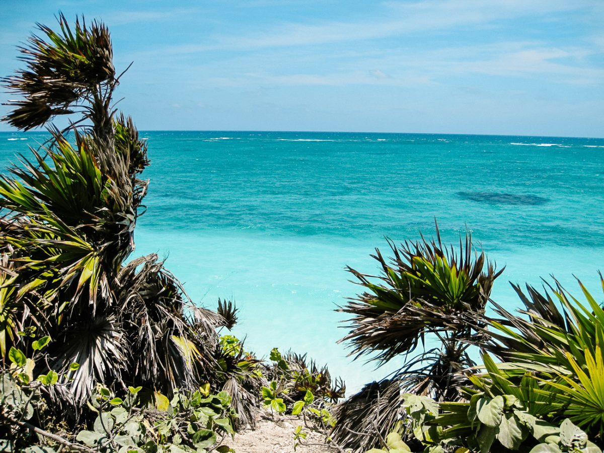 seaview from Tulum, the famous Yucatan Mayan ruins