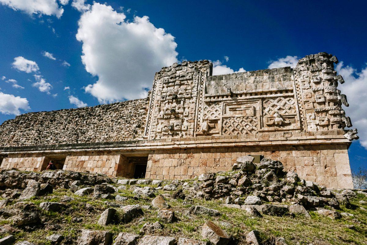 mozaik work in Uxmal, the mayan ruins near merida