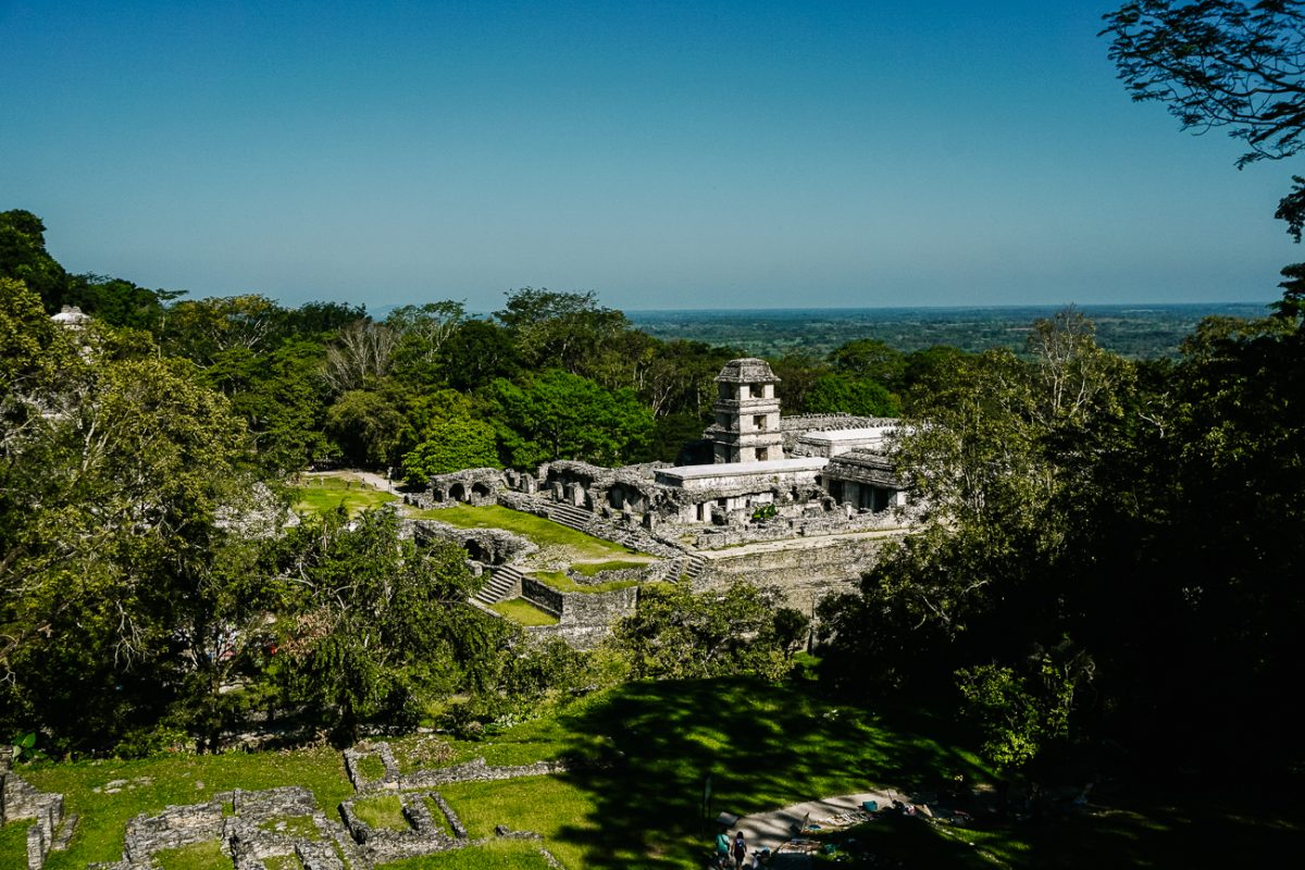view of fascinating Maya ruins | one of my best tips for palenque mexico is to early morning