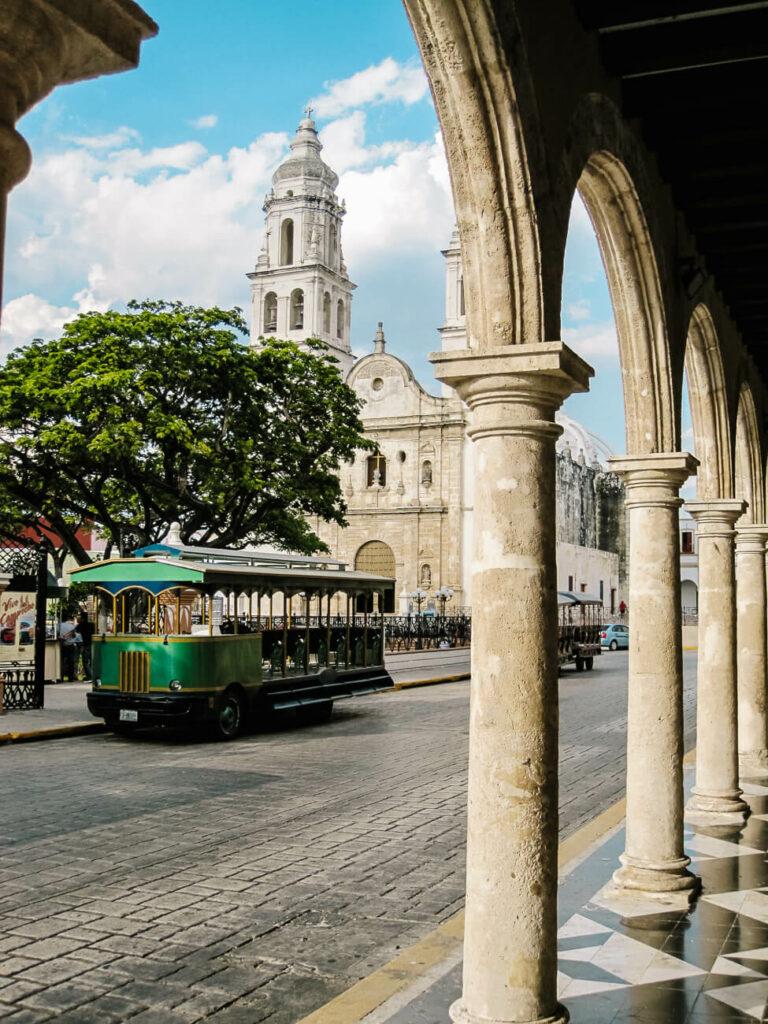 the central square of campeche mexico
