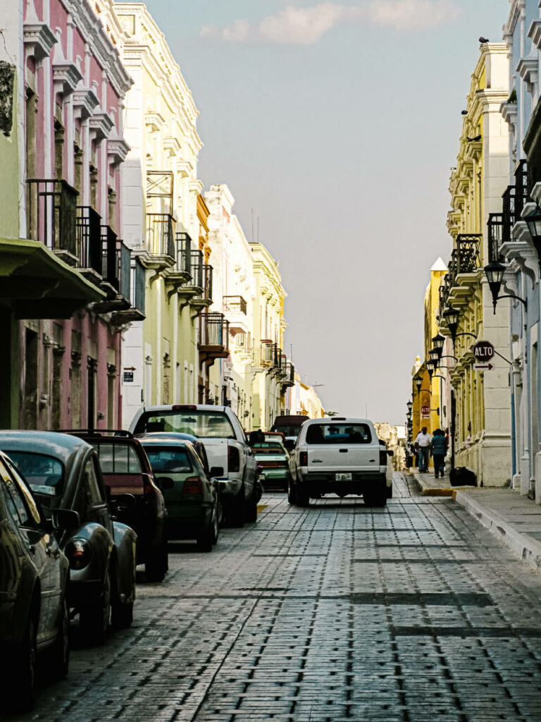 colorful colonial houses in Campeche