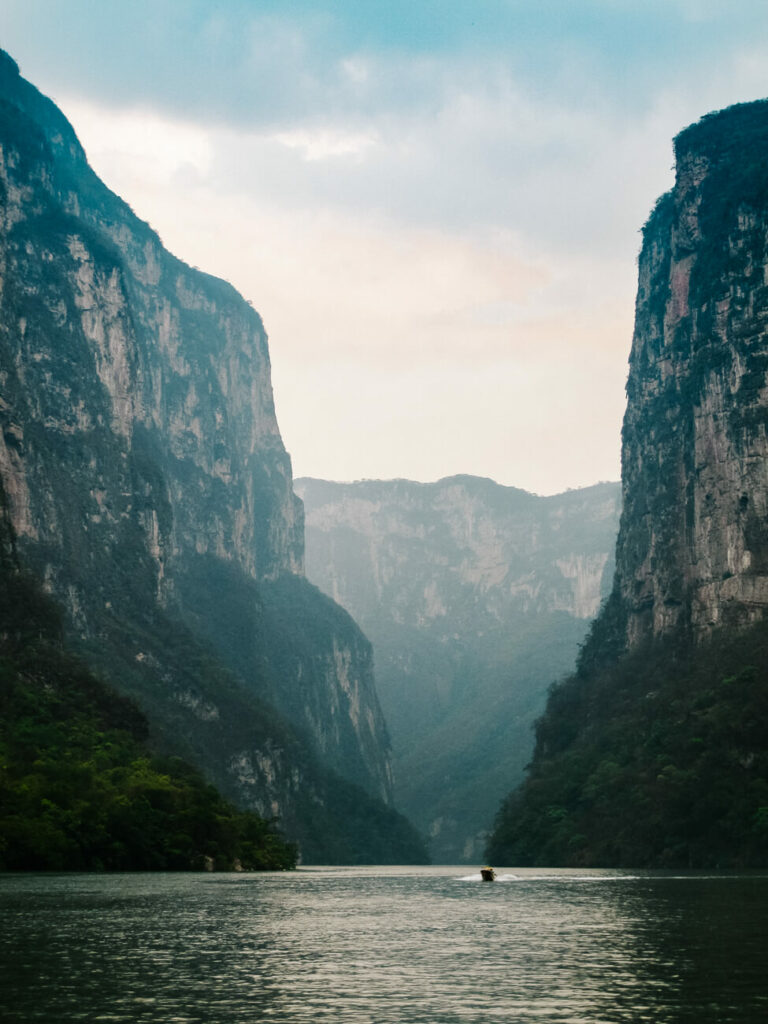 visit Canyon del Sumidero - one of the deepest canyons in the world, during your trip to Chiapas Mexico