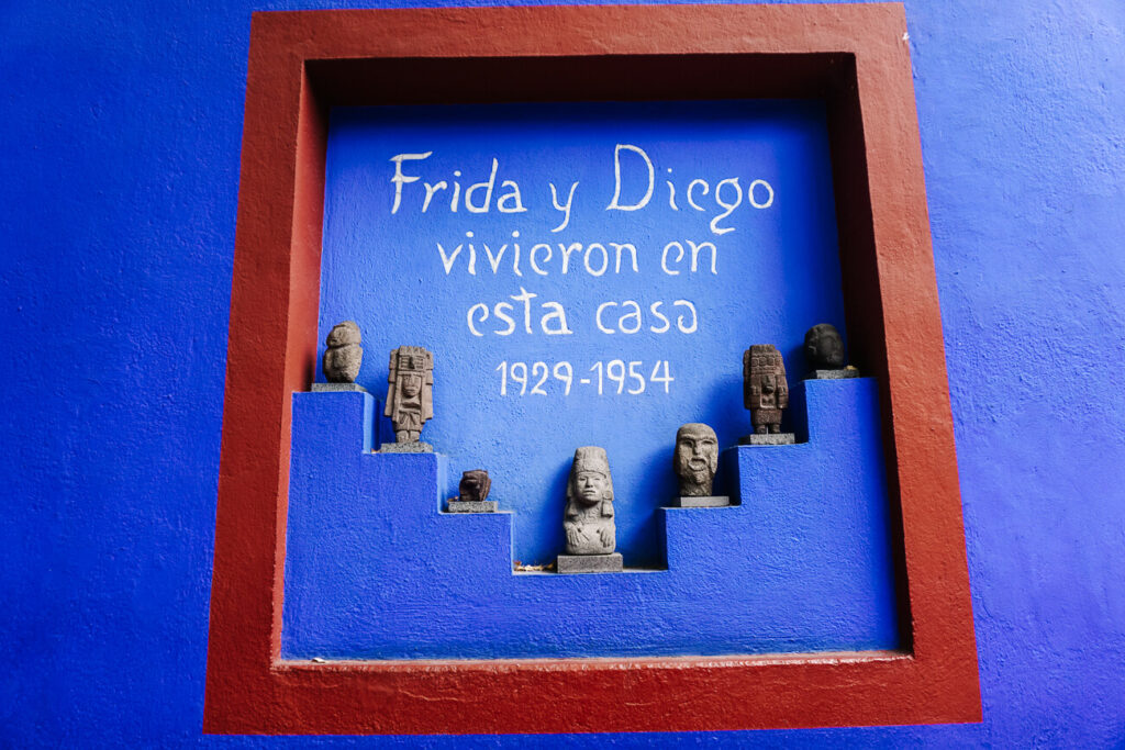 Casa Azul in Mexico stad, het geboortehuis van Frida Kahlo