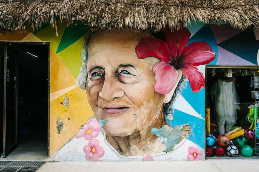streetartat isla de Holbox Mexico