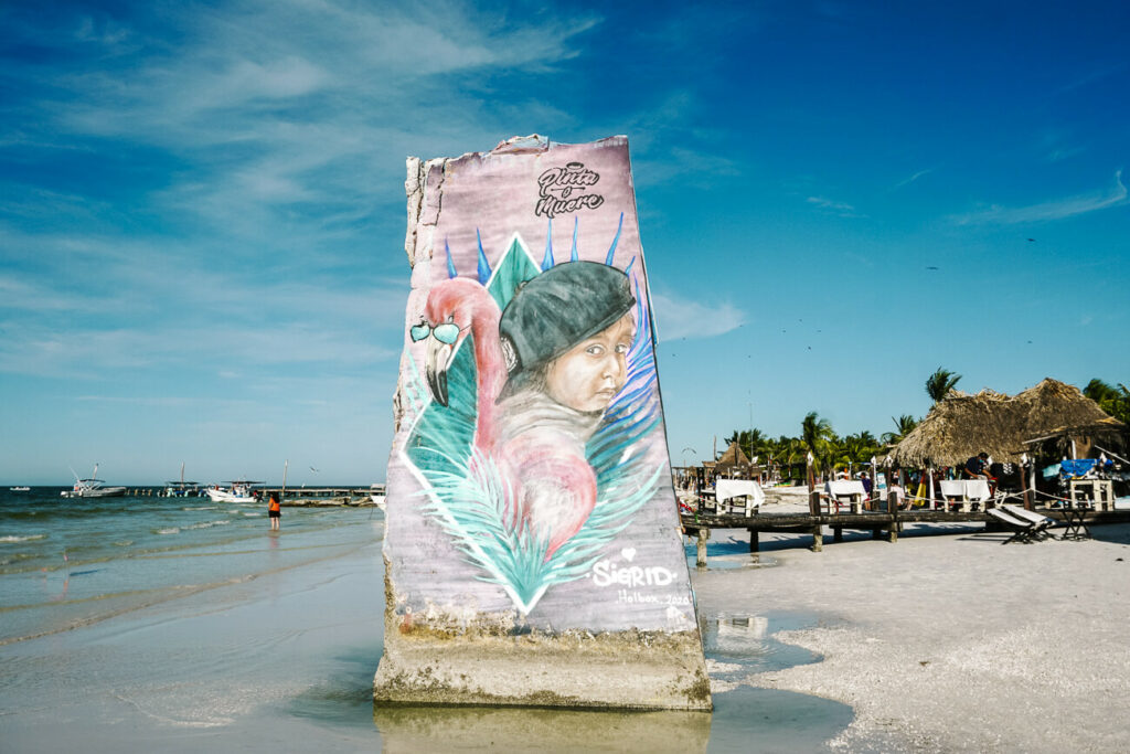 streetart on the beach of Isla de Holbox, one of the best places to visit during your trip to Mexico