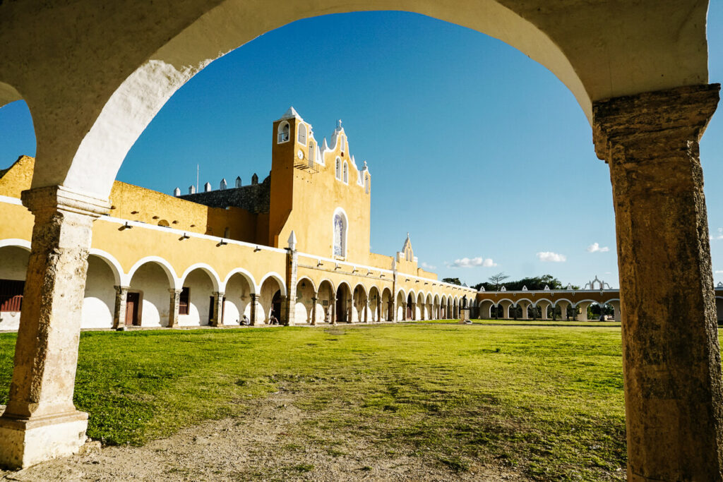 view of the Convento de San Antonio de Padua in Izamal