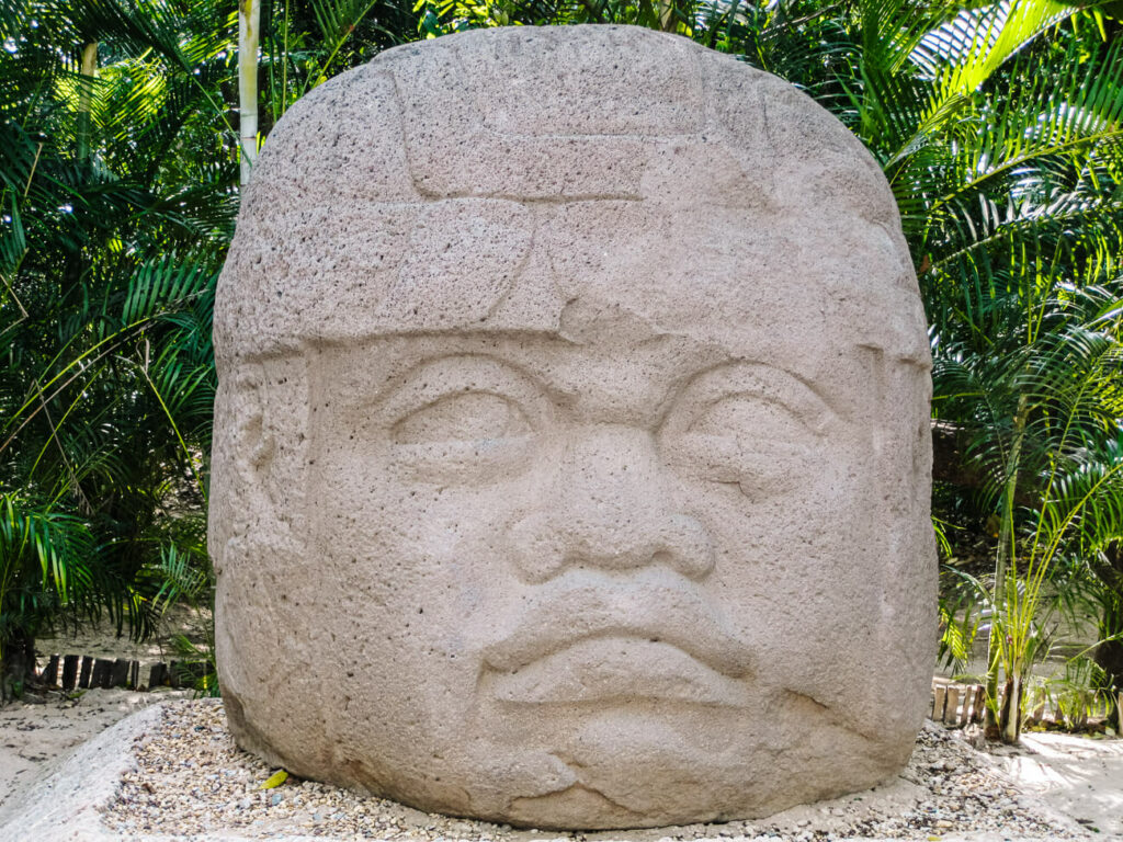 sculptures of la venta, one of my tips for mexico if you are interested in history