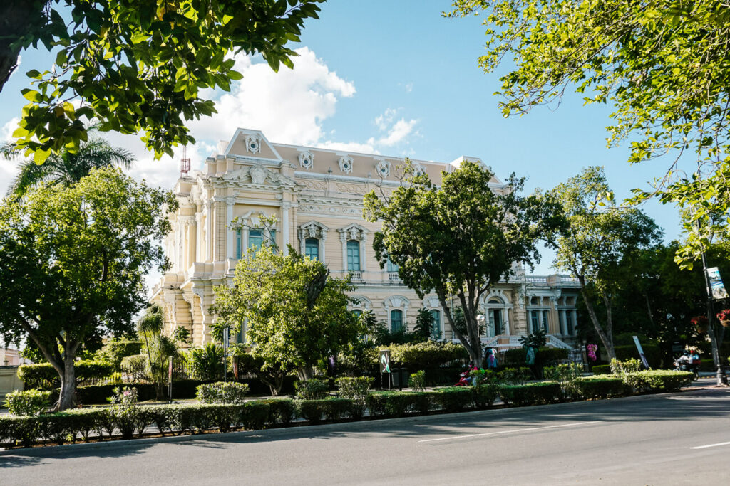 Merida is famous for its paseo de montejo and beautiful buiildings