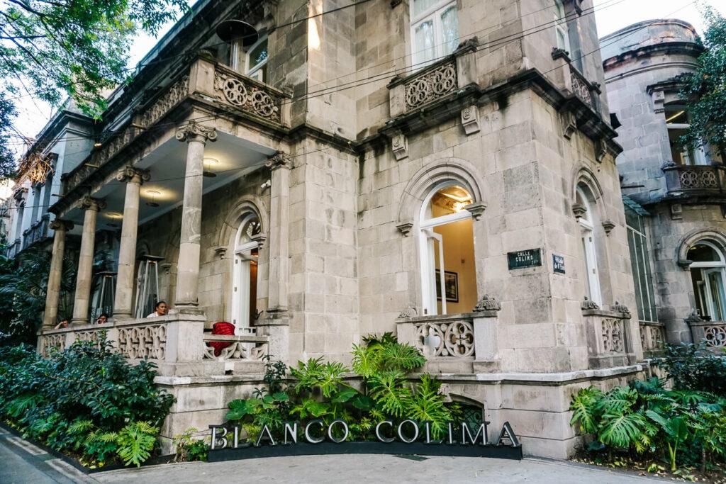 restaurant blanco colima in calle colima in Roma Mexico city