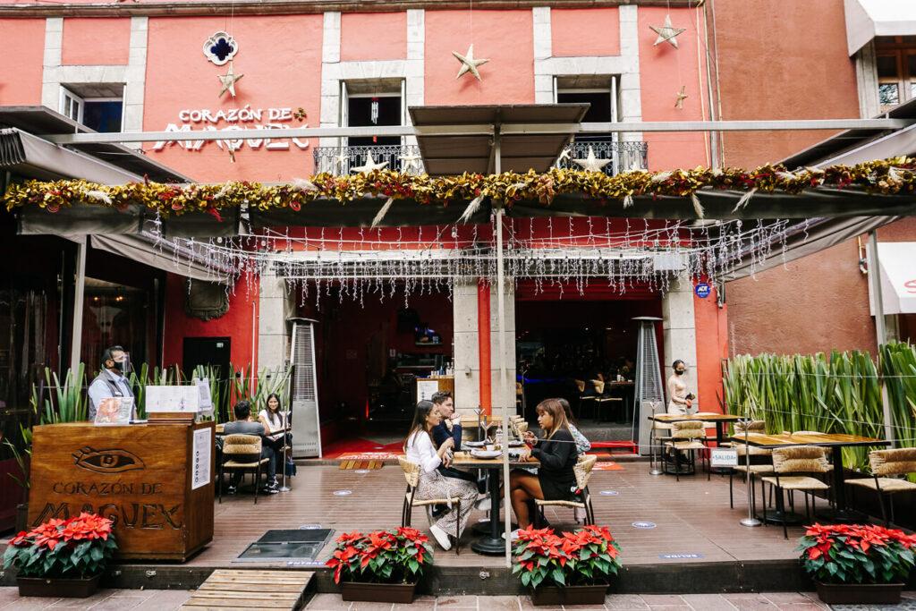 restaurant in Coayacan in mexico city