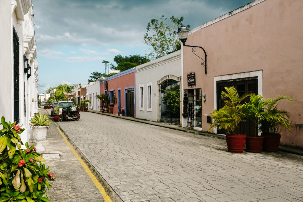 Calle de los frailes in Valladolid in Mexico, one of the most beautiful streets