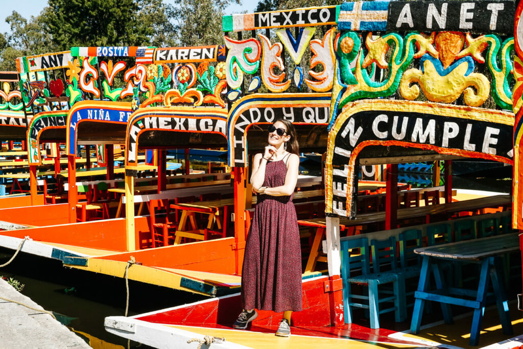 visit the floating gardens of Xochimilco, one of the top tips for Mexico City