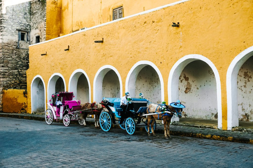 carriages in Izamal