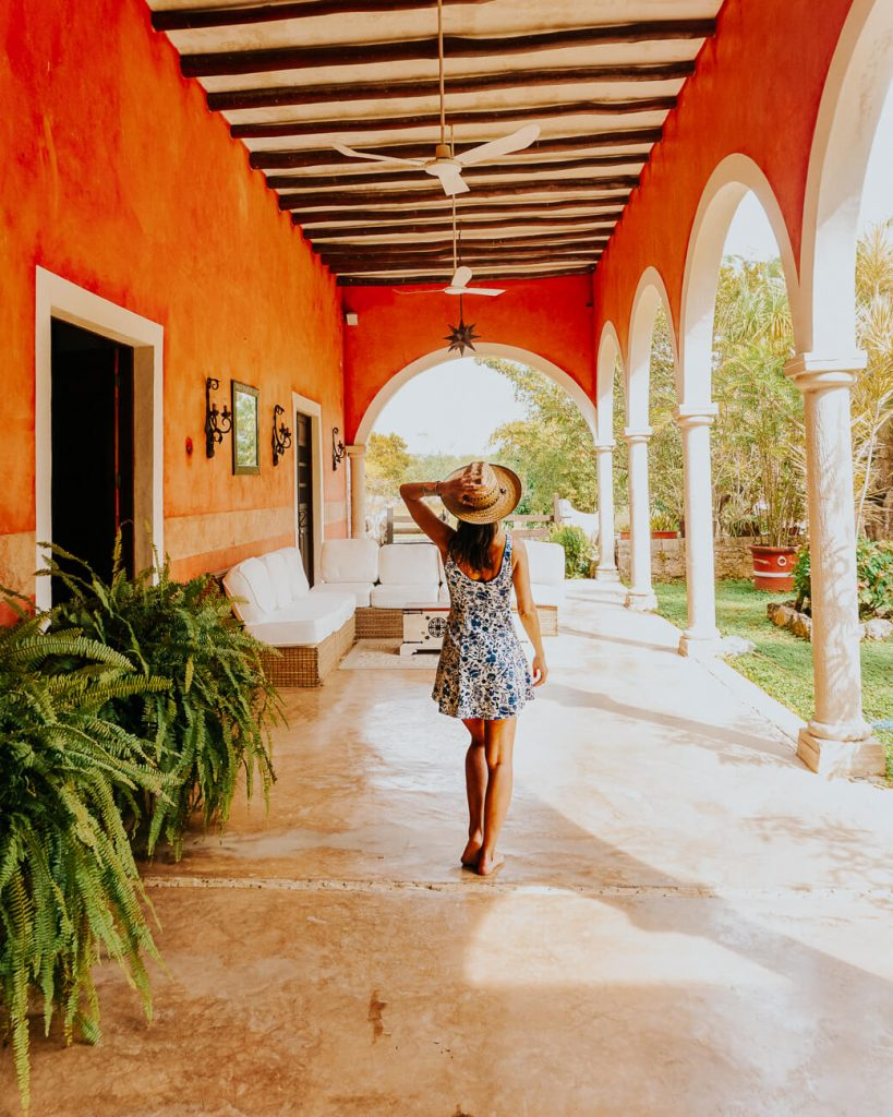 Deborah in Hacienda Sacnicte one of the best Izamal hotels and things to do in Izamal Mexico.