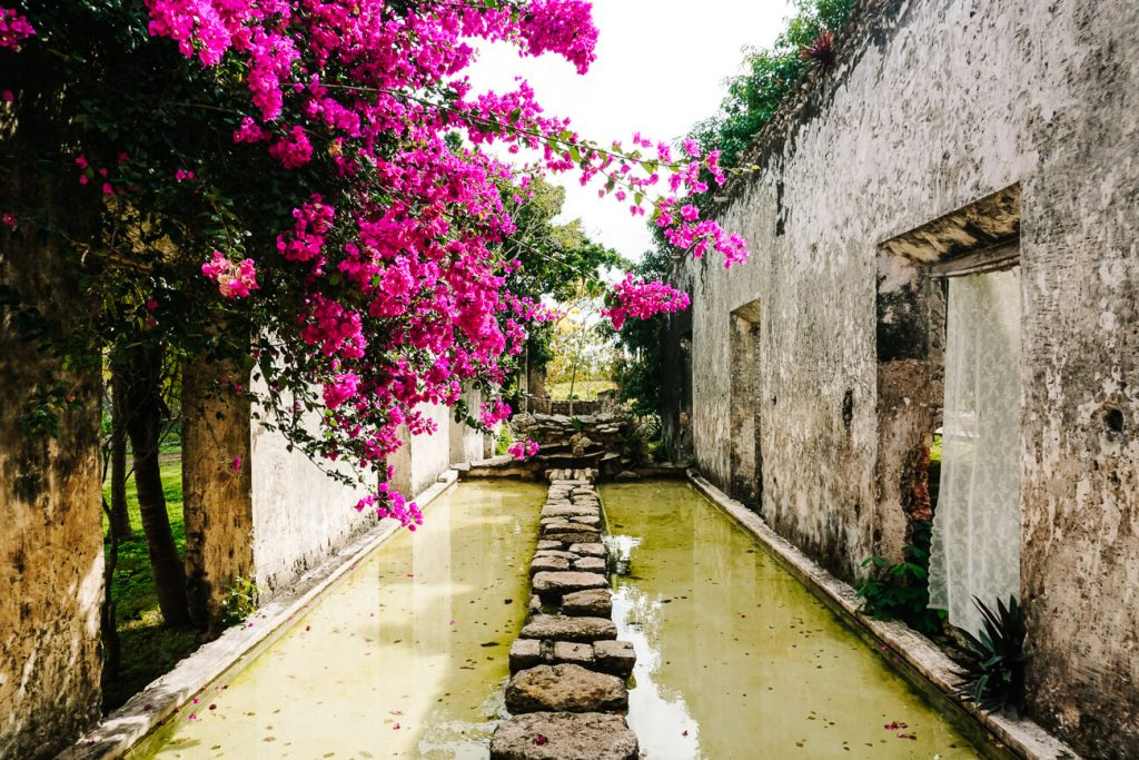 spend the night at Hacienda Sacnicte, one of the best things to do in Izamal Mexico