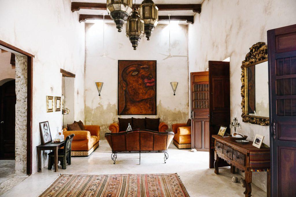 Izamal hotels | interior of Hacienda Sacnicte
