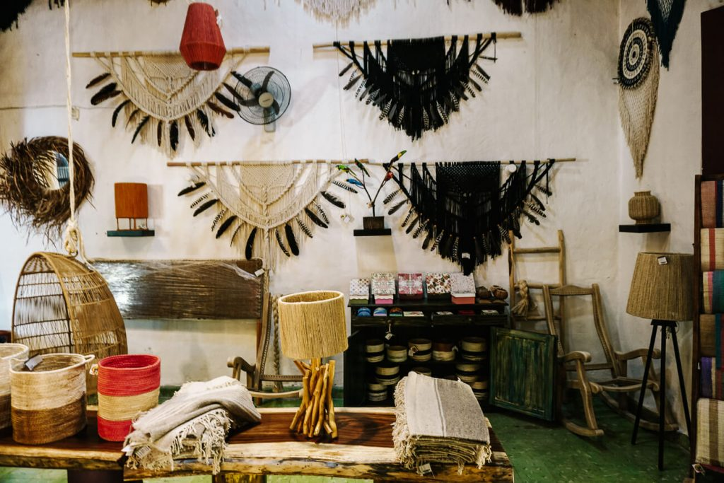 shop with products made of sisal in Izamal