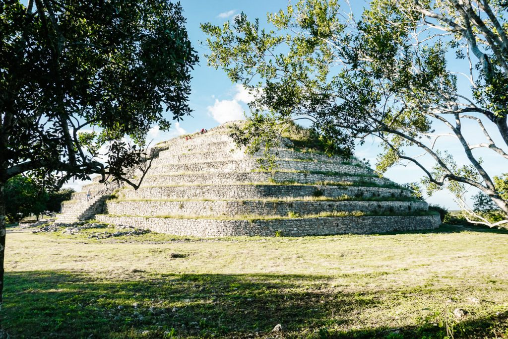 visit former mayan temples, one of the best things to do in Izamal Mexico