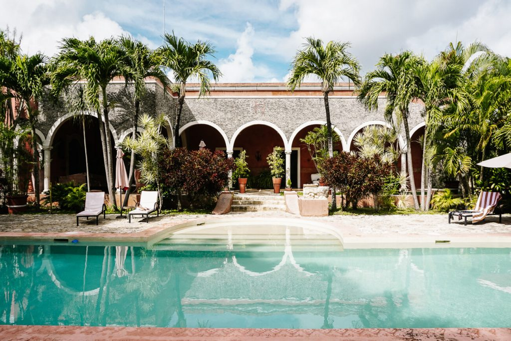 Izamal hotels | spend the night in Hacienda Sacnicte, one of the best things to do in Izamal Mexico
