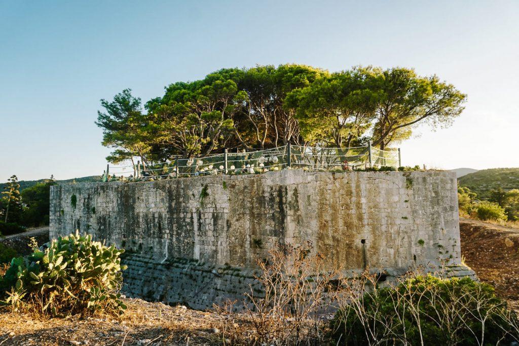 Fort George op eiland Vis