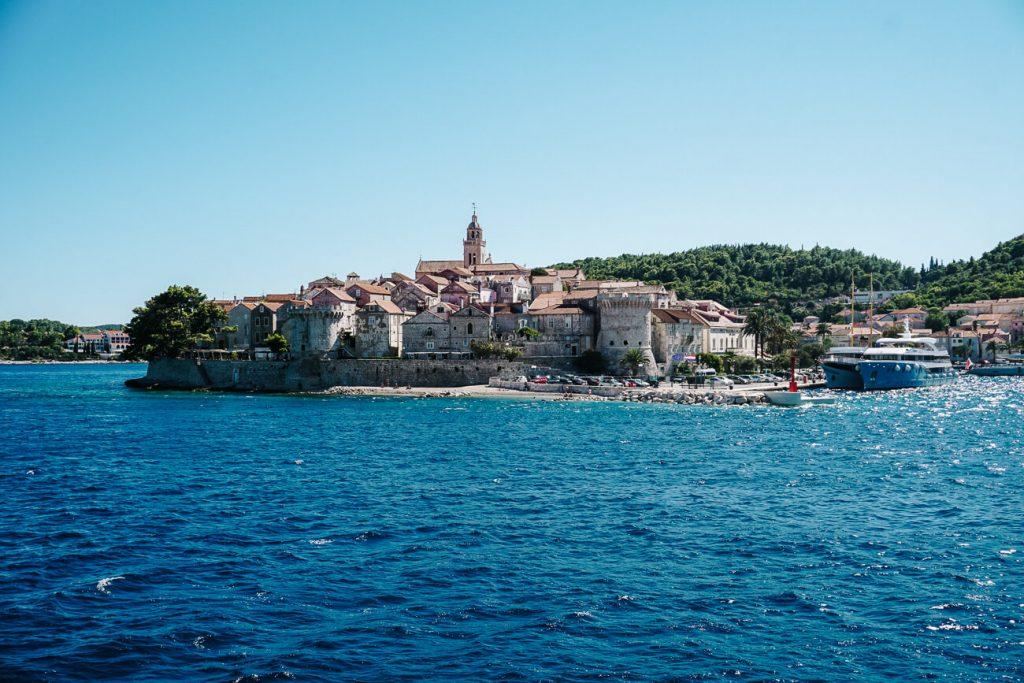 Korcula eiland, Dalmatische kust Kroatie