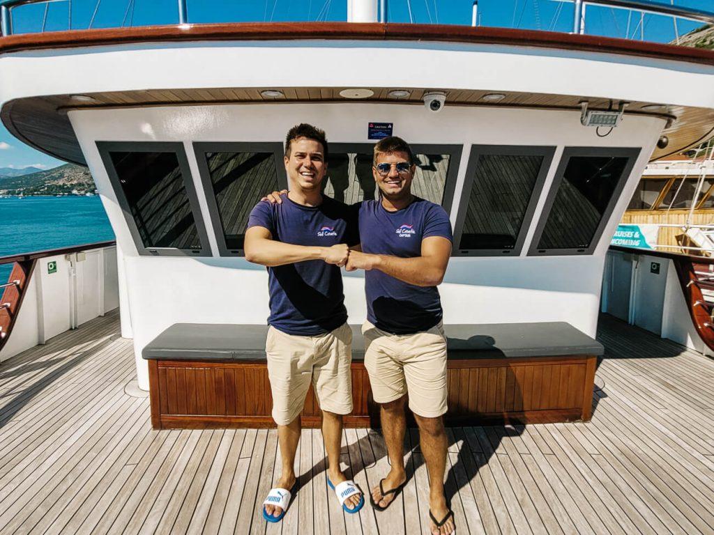 crew van Sail Croatia, cruise in Kroatie langs de Dalmatische kust