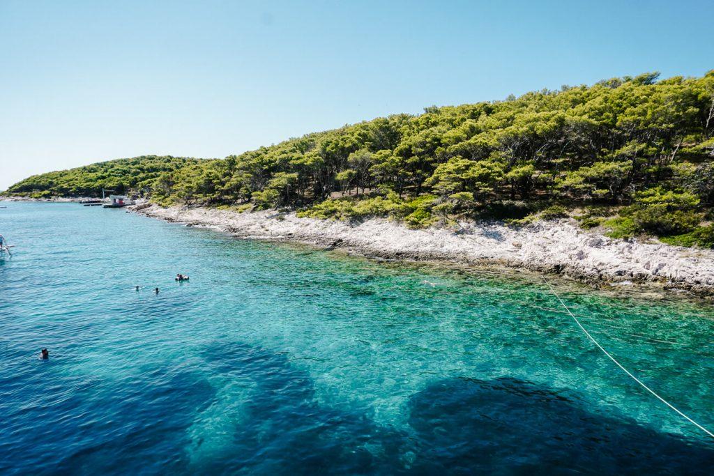blauwe zee, dalmatische kust