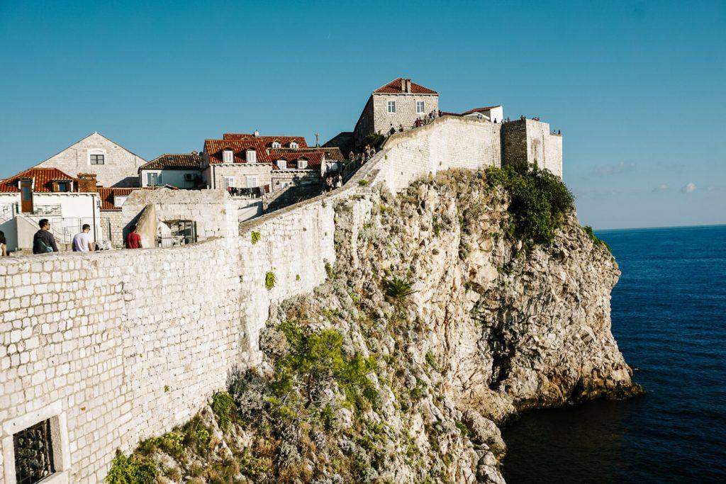 stadsmuren van Dubrovnik, Dalmatische kust Kroatie