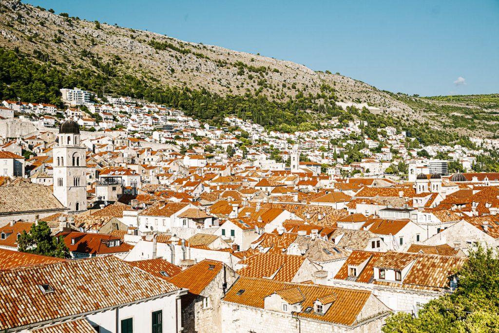 uitzicht over Dubrovnik, Dalmatische kust Kroatie