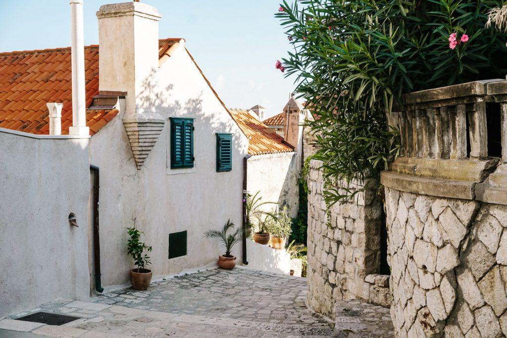 pleintje in Dubrovnik, Dalmatische kust Kroatie