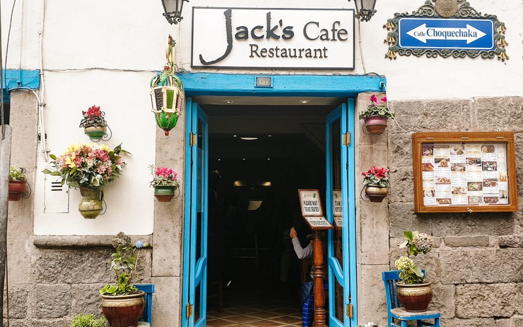 Restaurants in Cusco Peru Jacks café