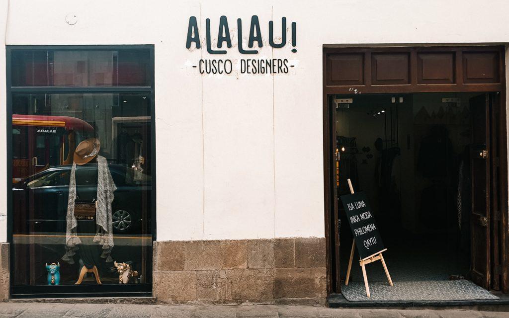 best shopping in Cusco Peru a lau lau