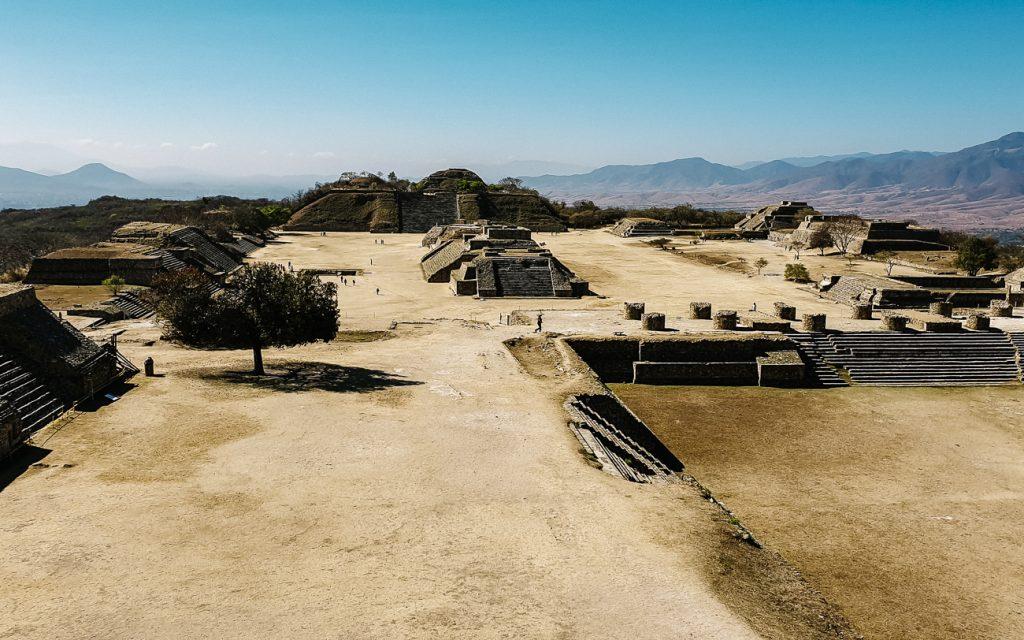 uitzicht op Monte Alban archeologische site, nabij Oaxaca