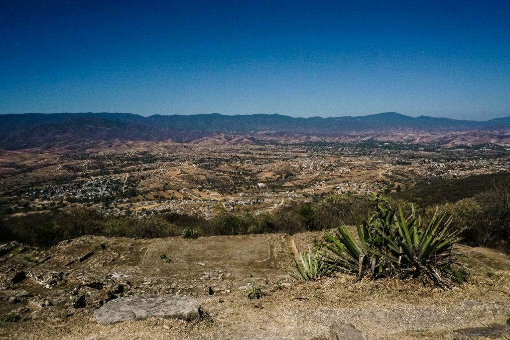 uitzicht op vallei oaxaca