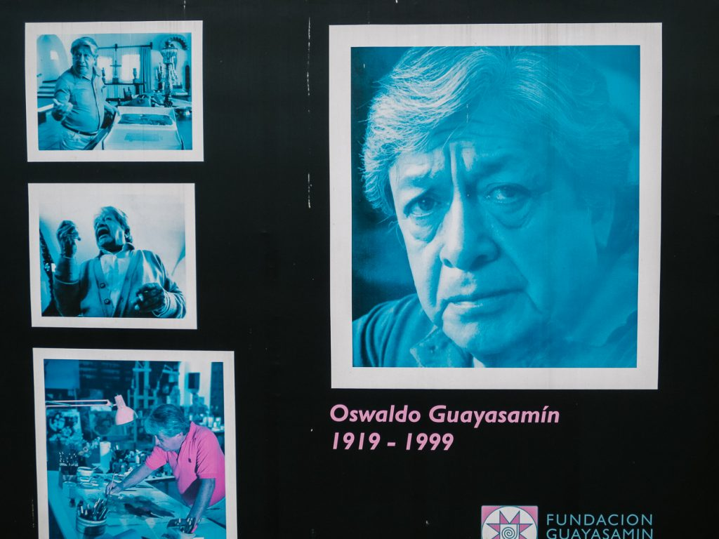 Ecuadorian artist Guayasamín museum in Quito to admire the art of Oswaldo Guayasamín