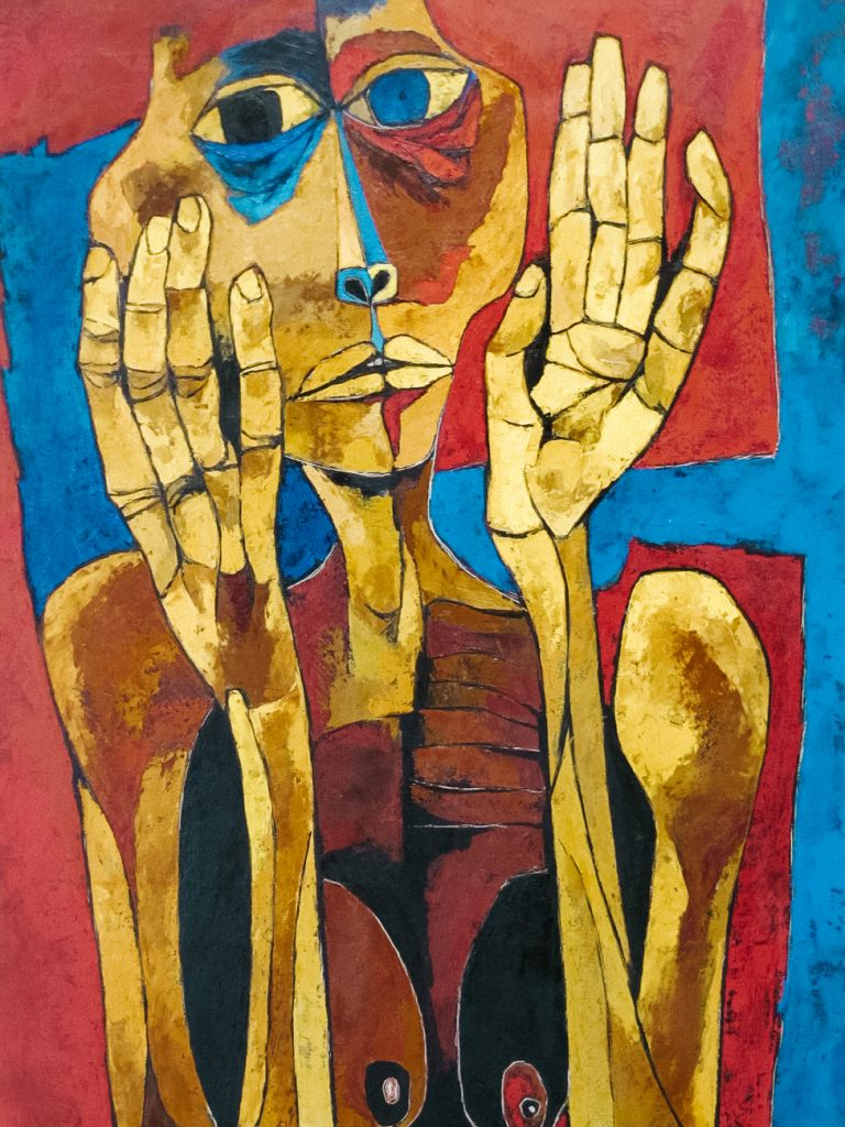 art of oswaldo guayasamín in funcación guayasamin in Quito Ecuador