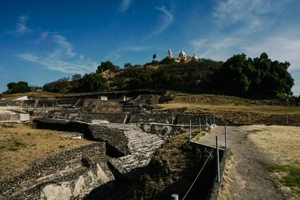 Cholula ruïnes in mexico