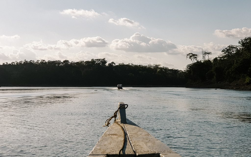 a boat trip on the usumacinta river