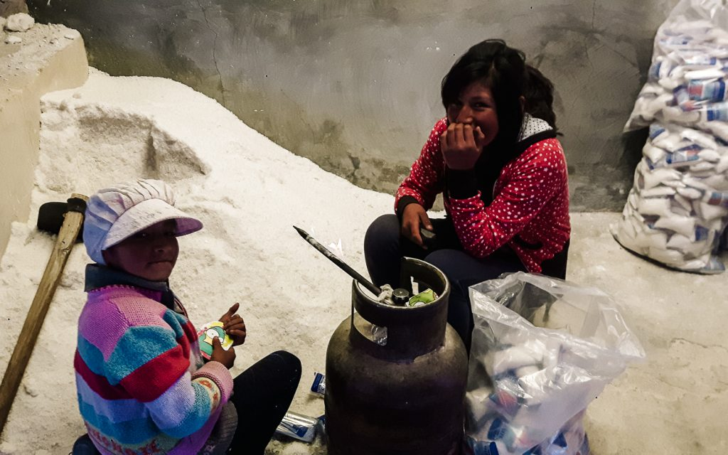 El Salar de Uyuni zoutverwerking