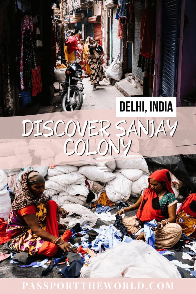 Pin Sanjay Colony Delhi slum tour