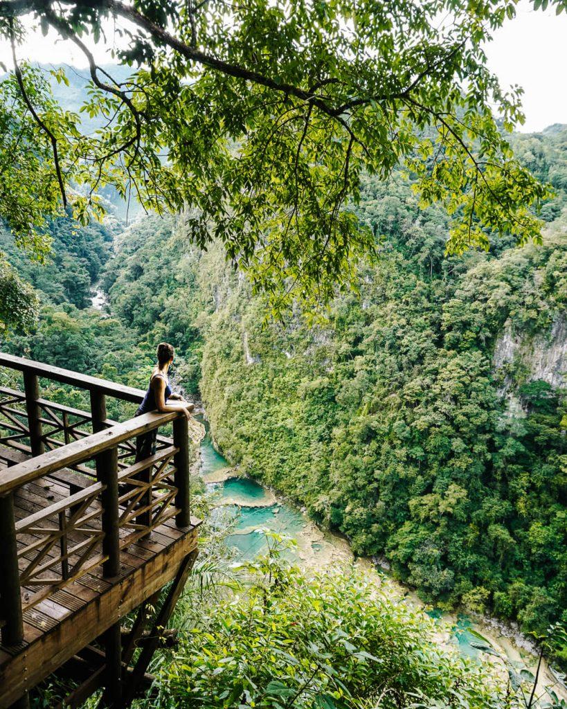 Uitzicht Semuc Champey Guatemala