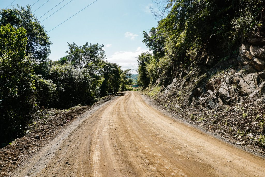 the last part of the road from Antigua to Lanquin