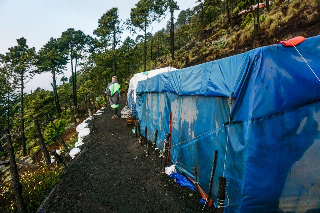 The campsite of the Acatenango volcano hike